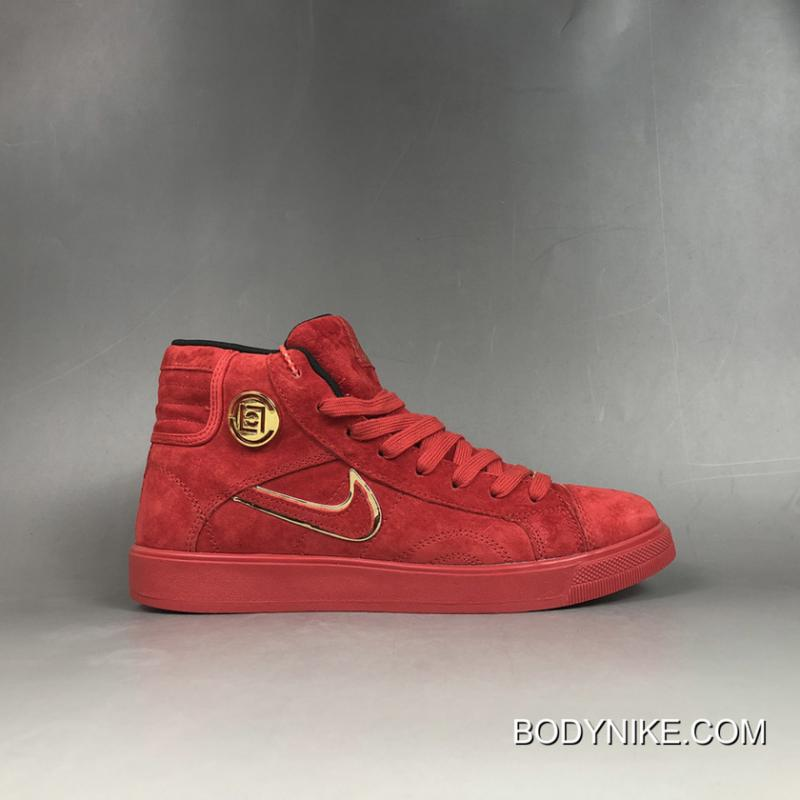 "new concept lace up in official site Women/Men Best Air Jordan 1 High ""CNY"" Custom Red Suede/Gold ..."