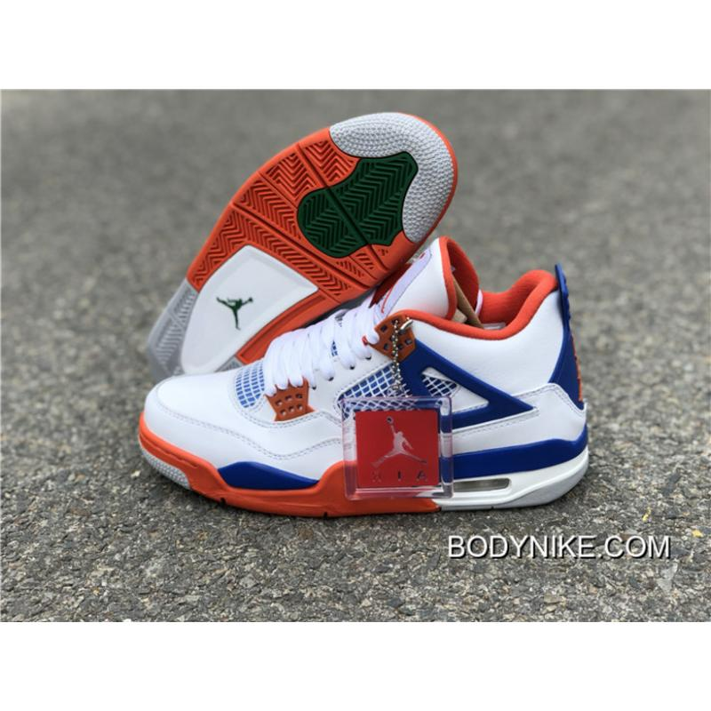 100% authentic 16cfc 980b4 Best Air Jordan 4 Retro White Blue-Orange ...