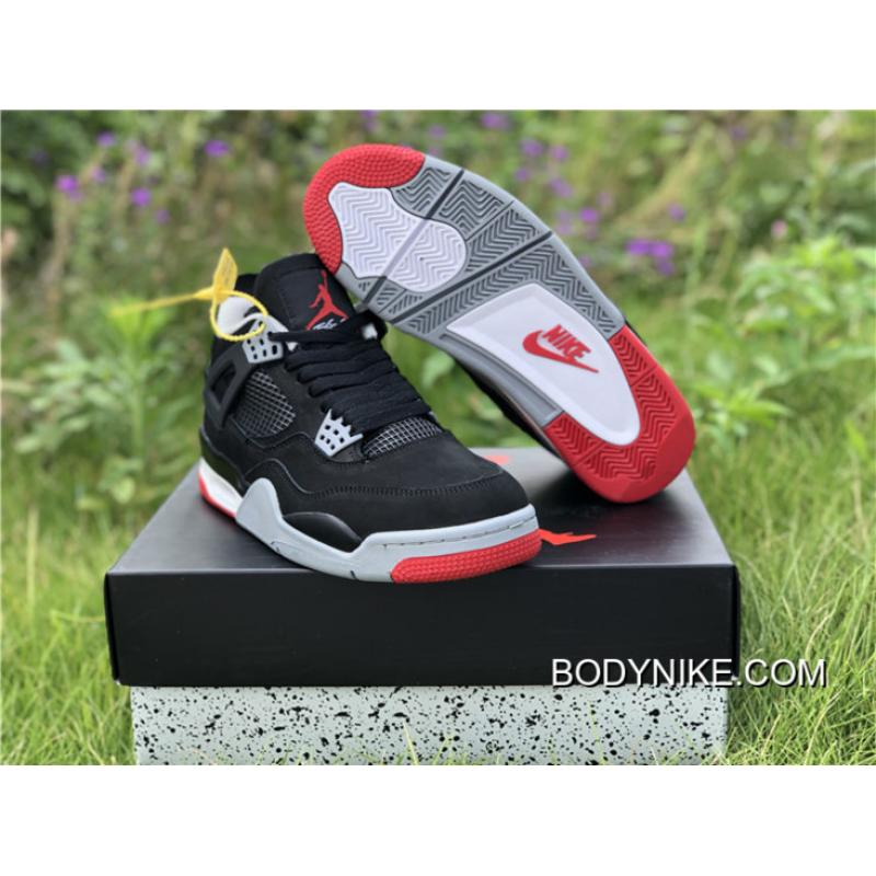 "b9949d426367 Buy Now Air Jordan 4 ""Bred 2019"" Black Cement Grey-Summit White-Fire ..."