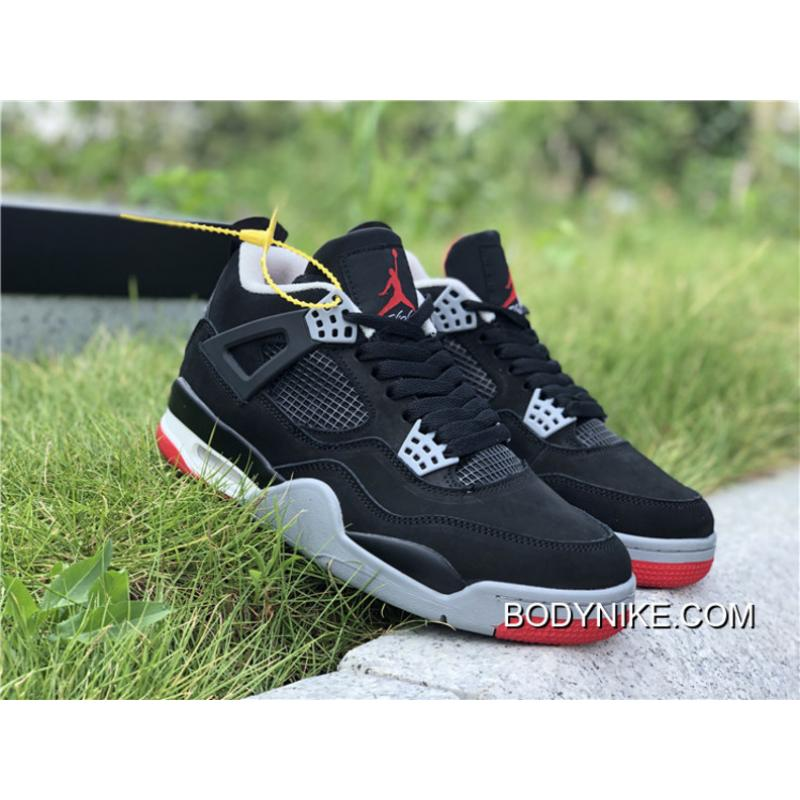 "on sale f0c37 d80b4 ... Buy Now Air Jordan 4 ""Bred 2019"" Black Cement Grey-Summit White ..."
