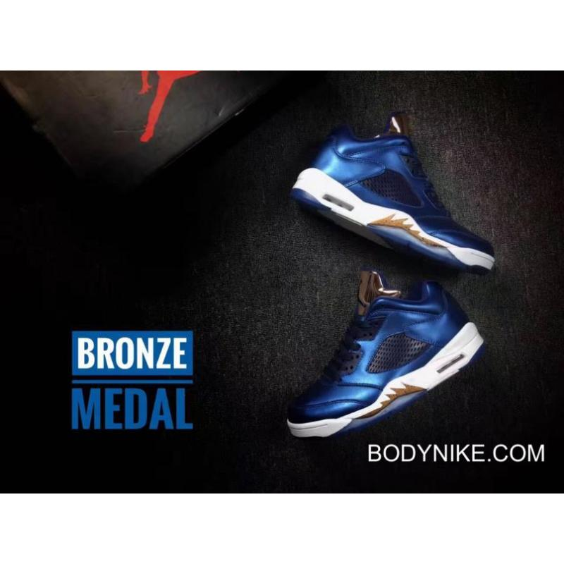 "44b1069e59b3f7 Online Air Jordan 5 ""Bronze"" Obsidian White-Metallic Red Bronze-Bright ..."