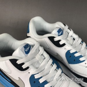 factory price dcbe6 8443e ... Outlet Nike Air Max 90  Laser Blue  White Black-Zen Grey ...