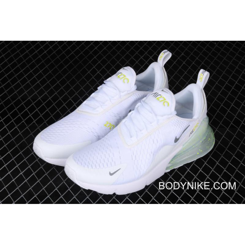 Discount Nike Air Max 270 WhiteVolt Metallic Silver, Price