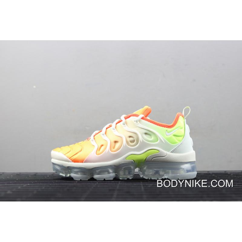 pretty nice 392ca 01ed1 Women Free Shipping Nike Air VaporMax Plus 'Reverse Sunset' Barely  Grey/Total Crimson-Volt-White