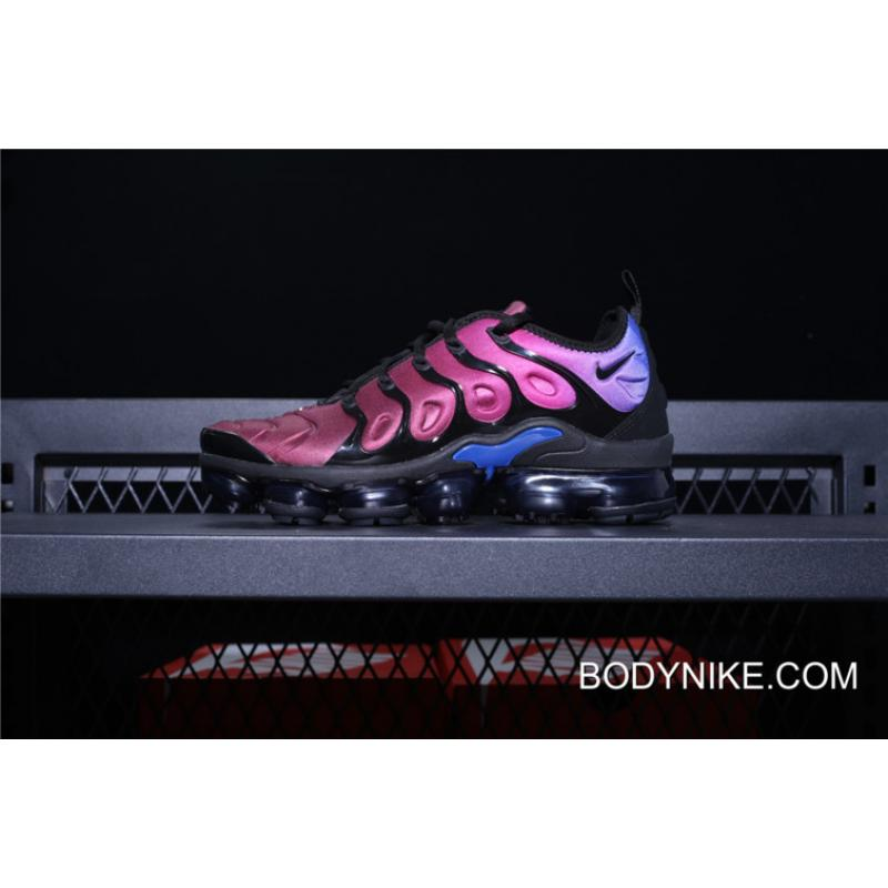 767f2af50673 For Sale Nike Air Vapormax Plus Black Hyper Violet-Racer Blue For Women ...