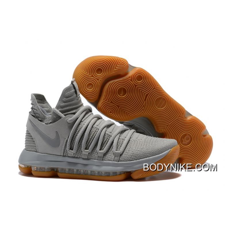 competitive price 16be6 eb4a5 Discount Nike KD 10 Pale Grey Light Bone-Gum ...