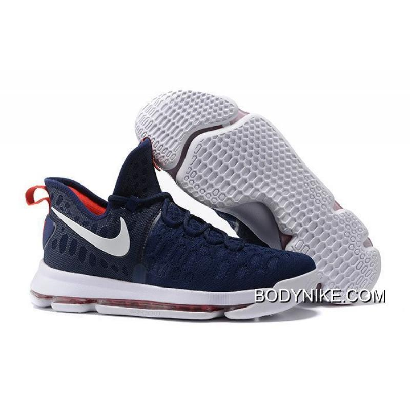 official photos 5c22a cc475 Nike KD 9 Navy Blue White-Red Authentic ...