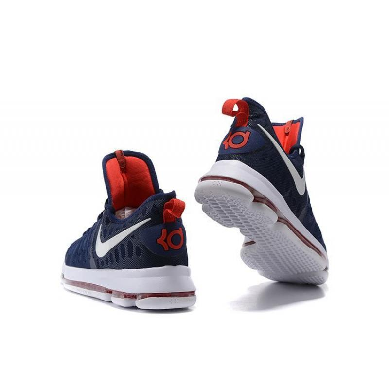finest selection 388e9 63c24 ... Nike KD 9 Navy Blue White-Red Authentic