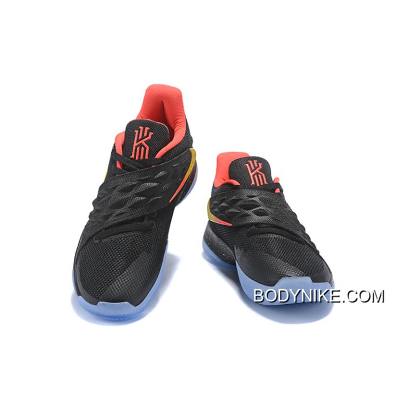 premium selection b1163 4dd1d New Style Nike Kyrie Low Black Red Yellow PE