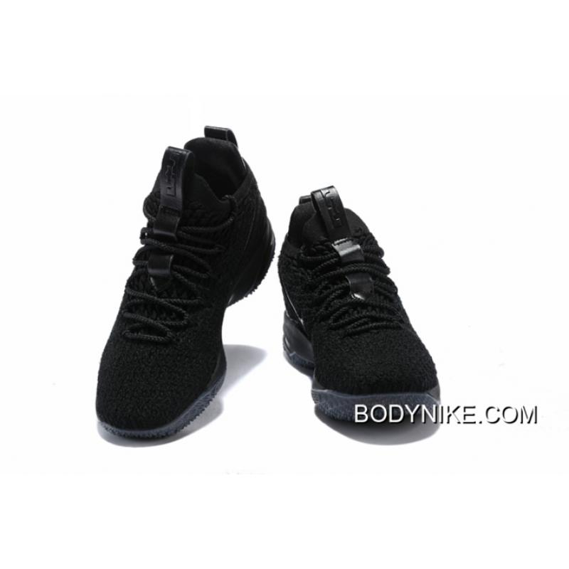 c9565179ab1f0 ... Authentic Nike LeBron 15 Low Triple Black ...