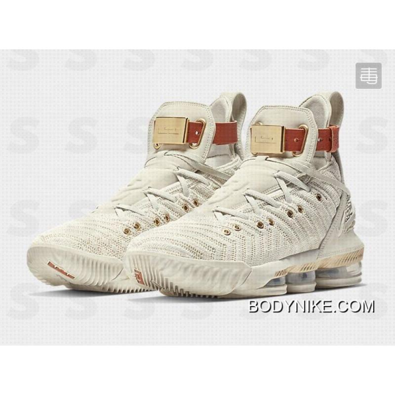 "6da535729f67 ... Latest Nike LeBron 16 ""HFR"" Sail White Light Bone BQ6583-100 ..."