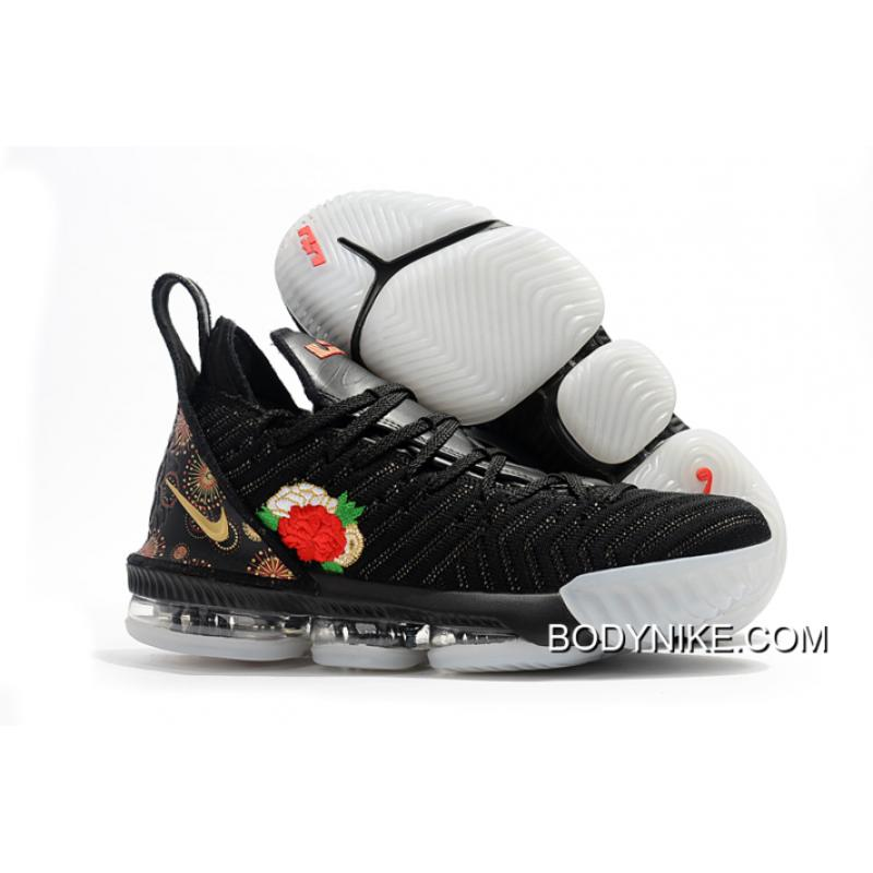 designer fashion aebbc 4b515 Women/Men Nike LeBron 16 'CNY' Black/Multi-Color/Summit White Online