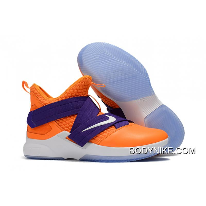 new concept e8b64 72a7c Best Nike LeBron Soldier 12 Orange Purple Straps