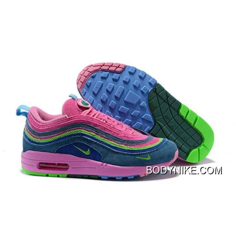 nike air max 97 pink and blue