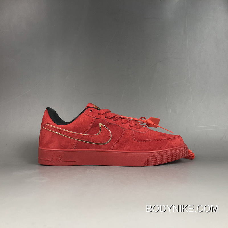 nike air force 1 suede red