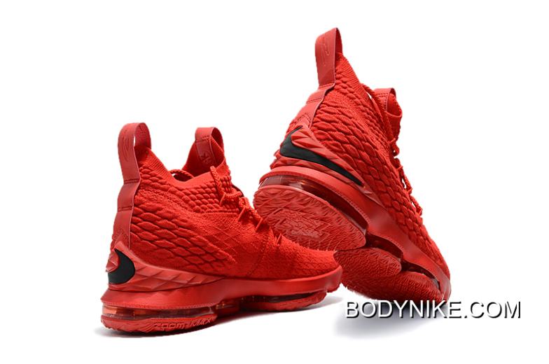 pretty nice 7403d 0d7ba Super Deals Men's Nike LeBron 15 Ohio State PE All-Red Basketball Shoes