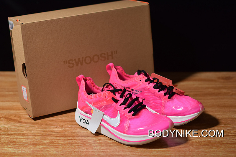 genuine shoes authentic quality cheap price Discount Off-White X Nike Zoom Fly 'Pink' Tulip Pink/Racer Pink ...